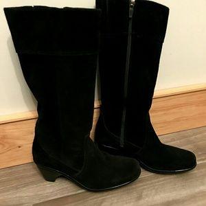 Dansko Risa black suede boots - size 38 (7 1/2 - 8